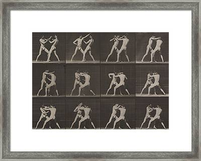 Boxing Framed Print by Eadweard Muybridge
