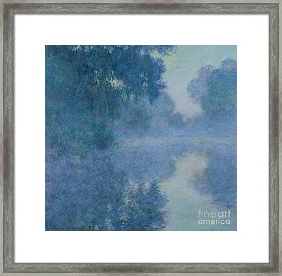 Branch Of The Seine Near Giverny Framed Print by Claude Monet