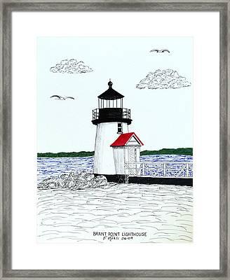 Brant Point Lighthouse Framed Print by Frederic Kohli