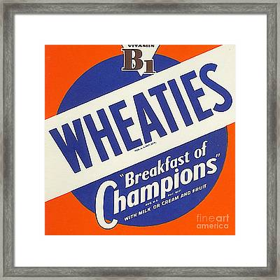Breakfast Cereal Wheaties Breakfast Of Champions Pop Art Nostalgia 20160215 Square Framed Print by Wingsdomain Art and Photography