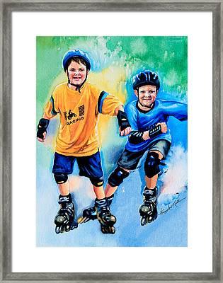 Breaking Away Framed Print by Hanne Lore Koehler