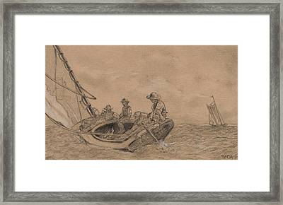 Breezing Up Framed Print by Winslow Homer