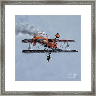 Breitling Wing Walker Framed Print by Stephen Smith