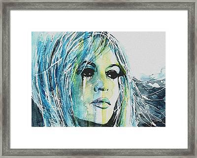 Brigitte Bardot Framed Print by Paul Lovering