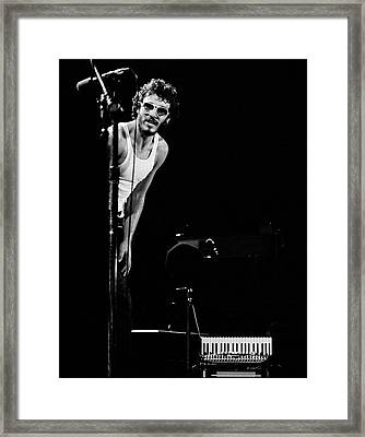 Bruce Springsteen 1975 Square Framed Print by Chris Walter