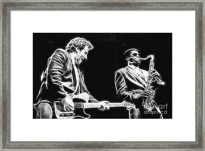 Bruce Springsteen Clarence Clemons Collection Framed Print by Marvin Blaine