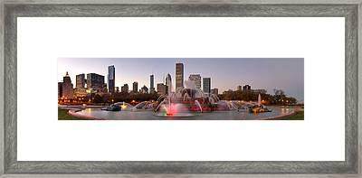Buckingham Fountain Framed Print by Twenty Two North Photography