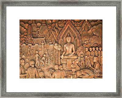 Buddha Framed Print by Niphon Chanthana