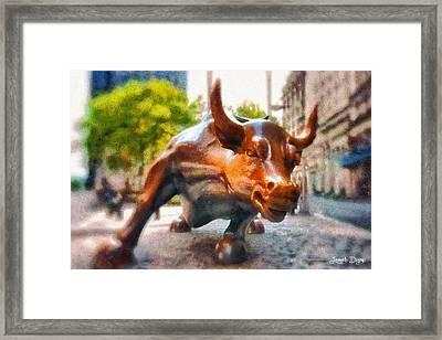 Bullish - Da Framed Print by Leonardo Digenio
