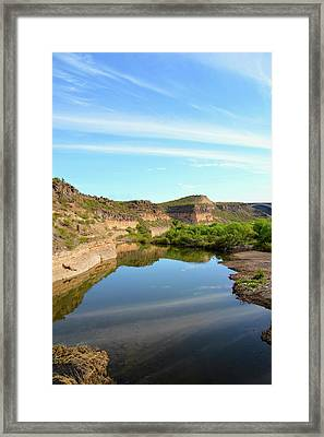Burro Creek Camp Framed Print by Barbara Snyder