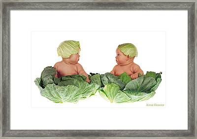 Cabbage Kids Framed Print by Anne Geddes