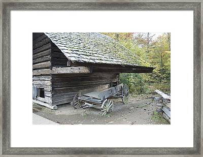Cable Mill Barn Framed Print by Michael Peychich