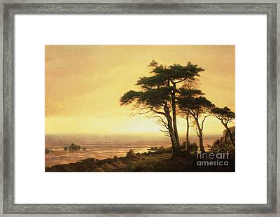 California Coast Framed Print by Albert Bierstadt