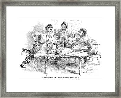 California Gold Rush, 1853 Framed Print by Granger