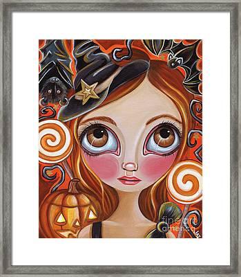Cancer - Zodiac Mermaid Framed Print by Jaz Higgins