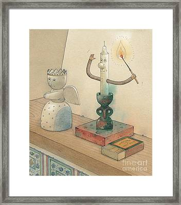 Candle Framed Print by Kestutis Kasparavicius