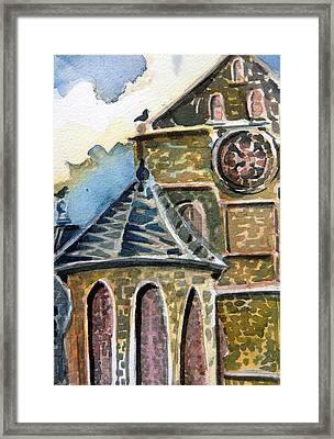 Cantebury Cathedral Framed Print by Mindy Newman