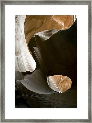 Canyon Sandstone Abstract Framed Print by Mike Irwin