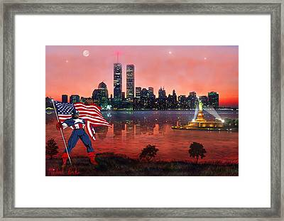 Captain America Framed Print by Michael Rucker