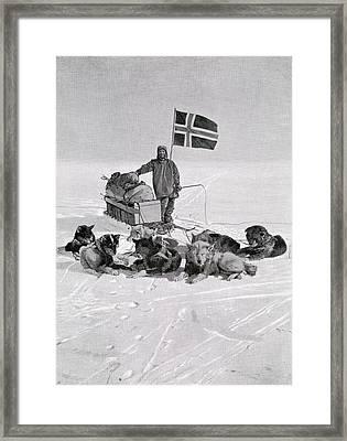 Captain Roald Engelbregt Gravning Framed Print by Vintage Design Pics