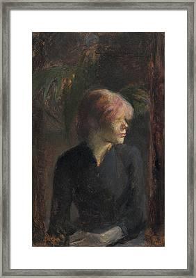 Carmen Gaudin Framed Print by Henri de Toulouse-Lautrec