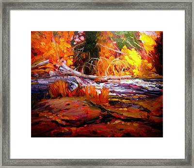 Cascade Framed Print by Brian Simons