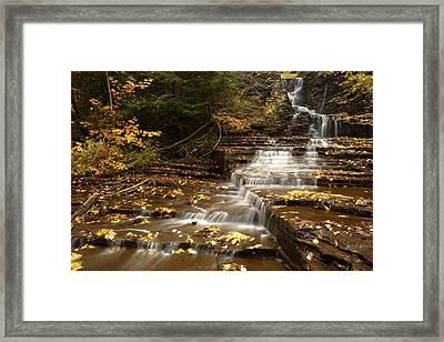 Cascade Framed Print by Eric Foltz