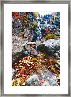 Cascades Of Color Framed Print by George Oze