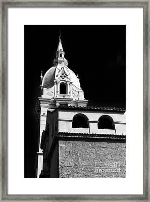 Cathedral In Cartagena Framed Print by John Rizzuto