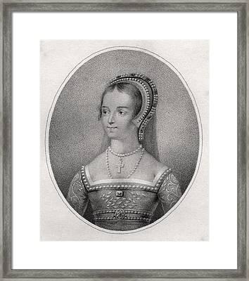 Catherine Parr Also Spelled Katherine Framed Print by Vintage Design Pics