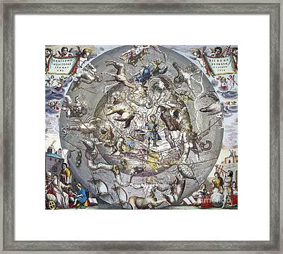 Celestial Planisphere, 1660 Framed Print by Granger