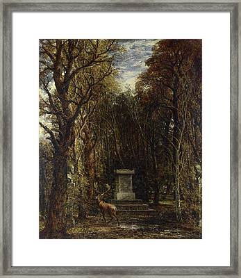 Cenotaph To The Memory Of Sir Joshua Reynolds Framed Print by John Constable