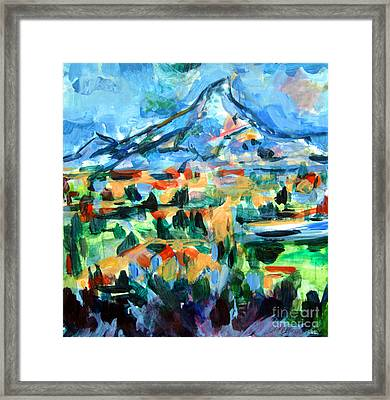 Cezanne Mountain Framed Print by Mindy Newman