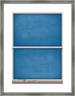 Chalk Board Split Framed Print by Allan Swart