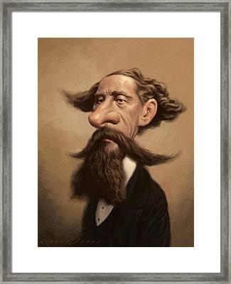 Charles Dickens Framed Print by Court Jones