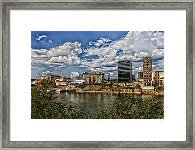 Charleston West Virginia Waterfront Framed Print by Mountain Dreams