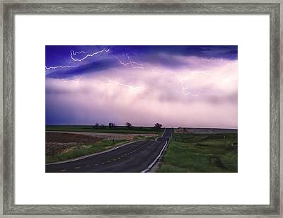 Chasing The Storm - County Rd 95 And Highway 52 - Colorado Framed Print by James BO  Insogna