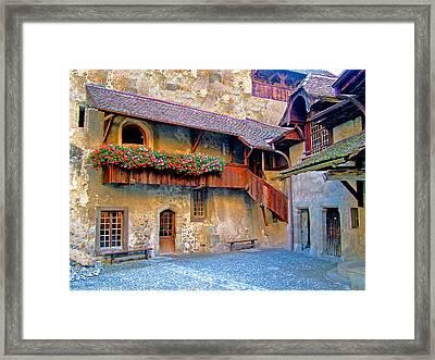 Chateau De Chillon Framed Print by Nick Diemel