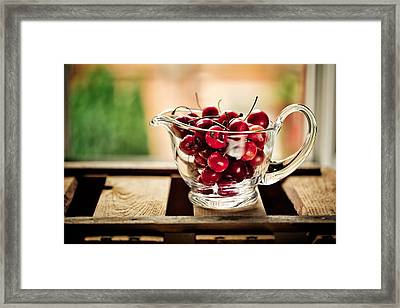 Cherries Framed Print by Nailia Schwarz