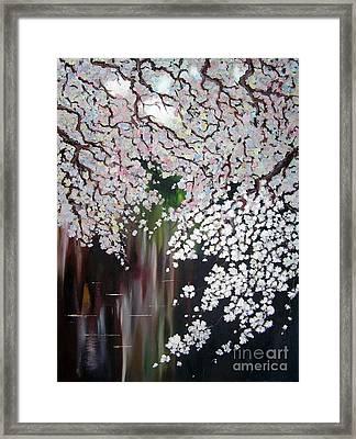 Cherry Blossom Framed Print by Irina Davis