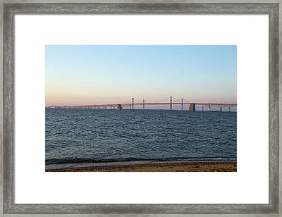 Chesapeake Bay Bridge - Maryland Framed Print by Brendan Reals