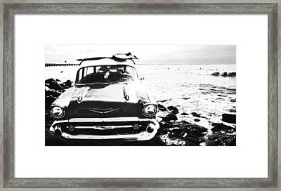Chevy On The Rocks Framed Print by Ron Regalado