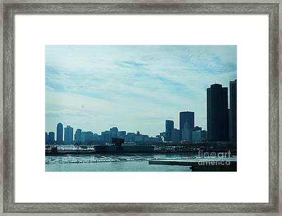 Chicago Navy Pier Framed Print by Celestial Images