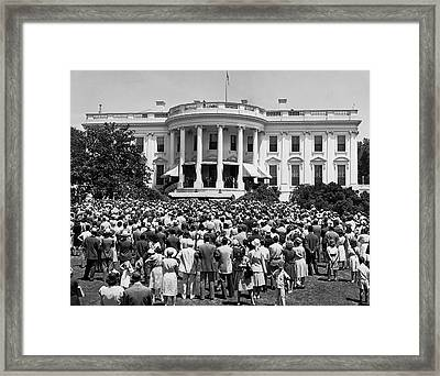 Chief Justice Fred Vinson Framed Print by Underwood Archives