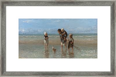 Children Of The Sea Framed Print by Jozef Israels