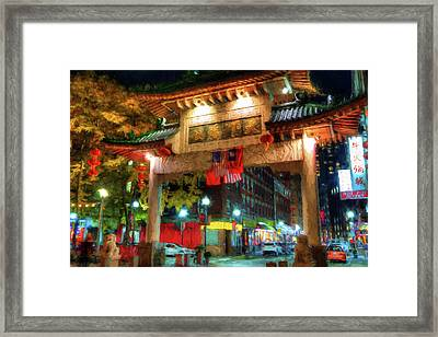 Chinatown - Boston Framed Print by Joann Vitali