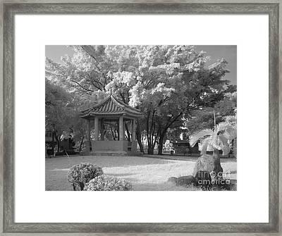 Chinese Garden Framed Print by Yali Shi