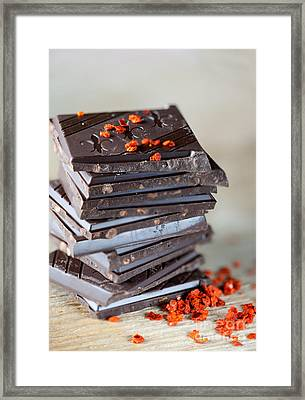 Chocolate And Chili Framed Print by Nailia Schwarz