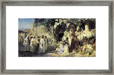 Christ And Sinner Framed Print by MotionAge Designs