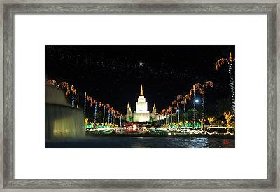 Christmas On Temple Hill Framed Print by Geoffrey C Lewis